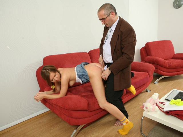 Cute sexy bitch gets hardcore with timeworn professor