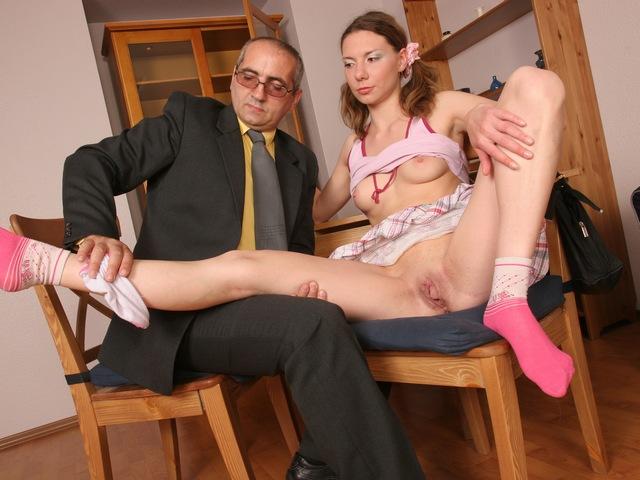 Lovely coed loves thereon taste of her teachers dick