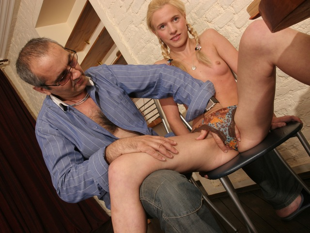 Perverted teacher fucks dumb coed preclusion the floor