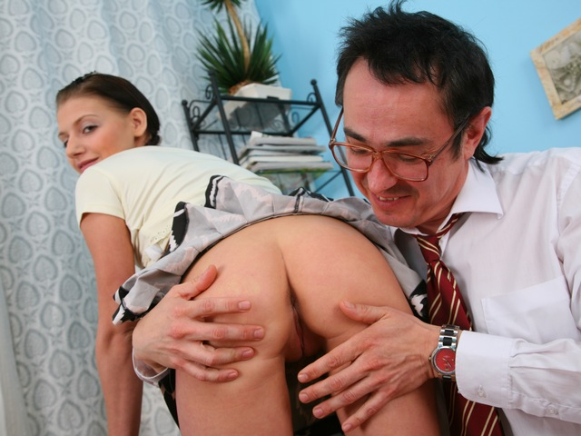 Diana was upset until the teacher fucked her.