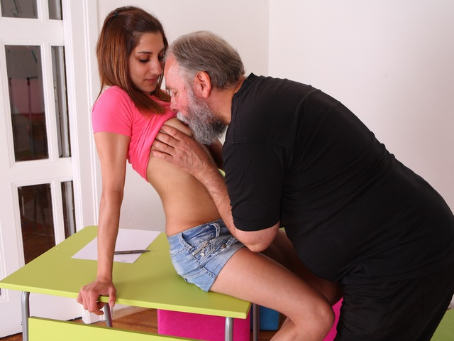Ulia is a sexy young student who is having school trouble and would do anything for a better grade.