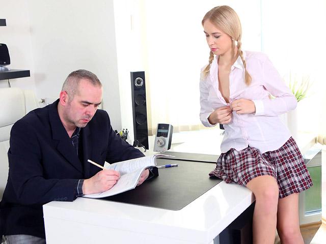 Horny student seduces her teac